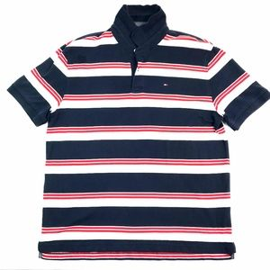 Tommy Hilfiger* Men's Blue Striped Polo Sz XL